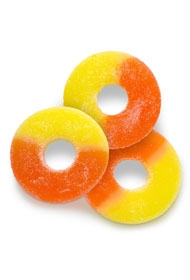 Sugar Free Gummi Peach Rings
