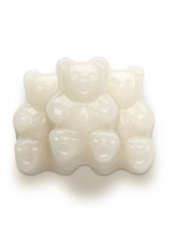 White Strawberry-Banana Gummi Bears